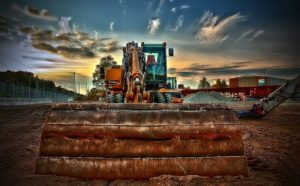 Bild på grävmaskin