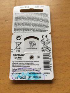 Hållbarheten på hörapparatsbatterier